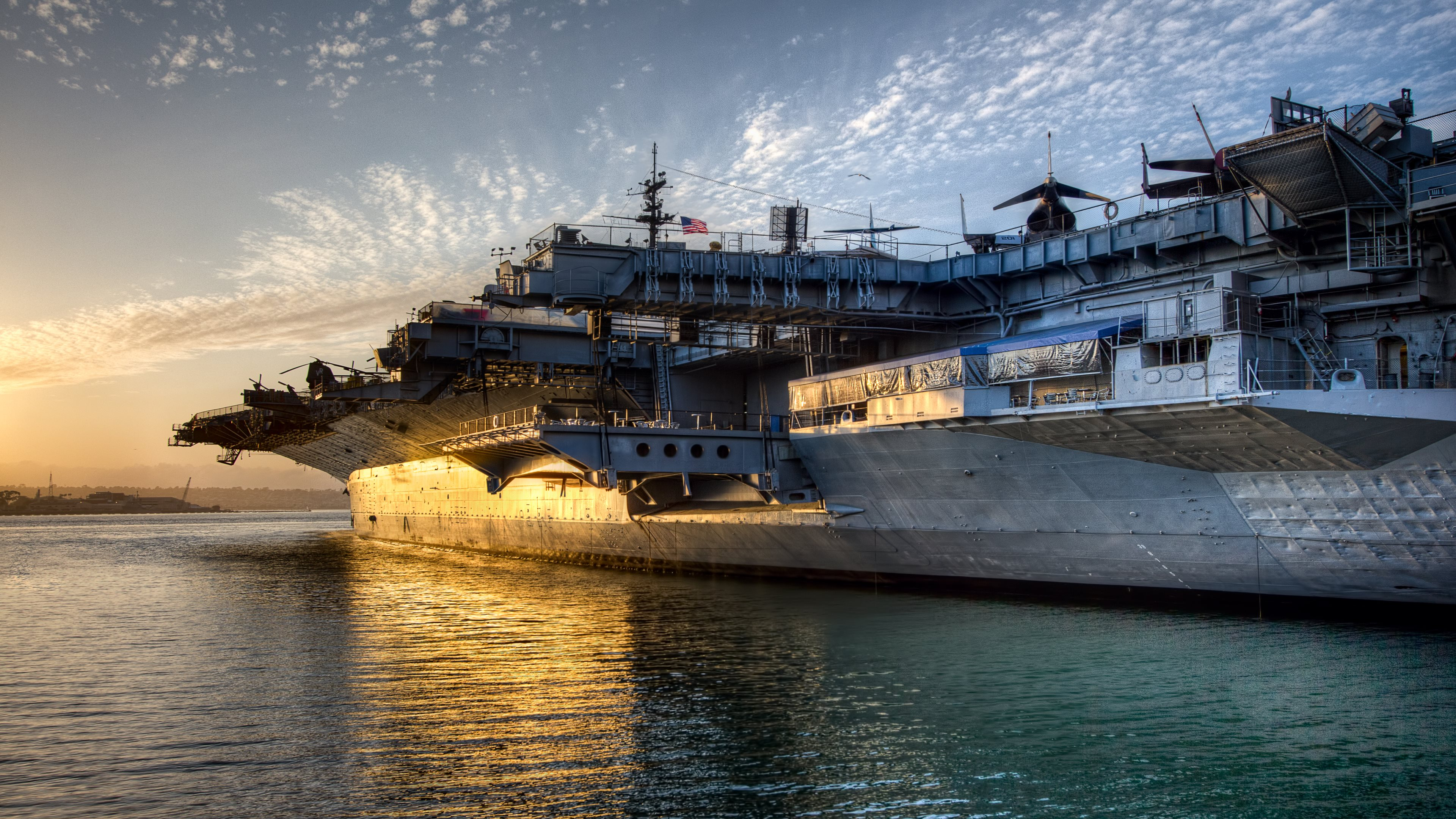 wallpaper only uss midway aircraft carrier 4k