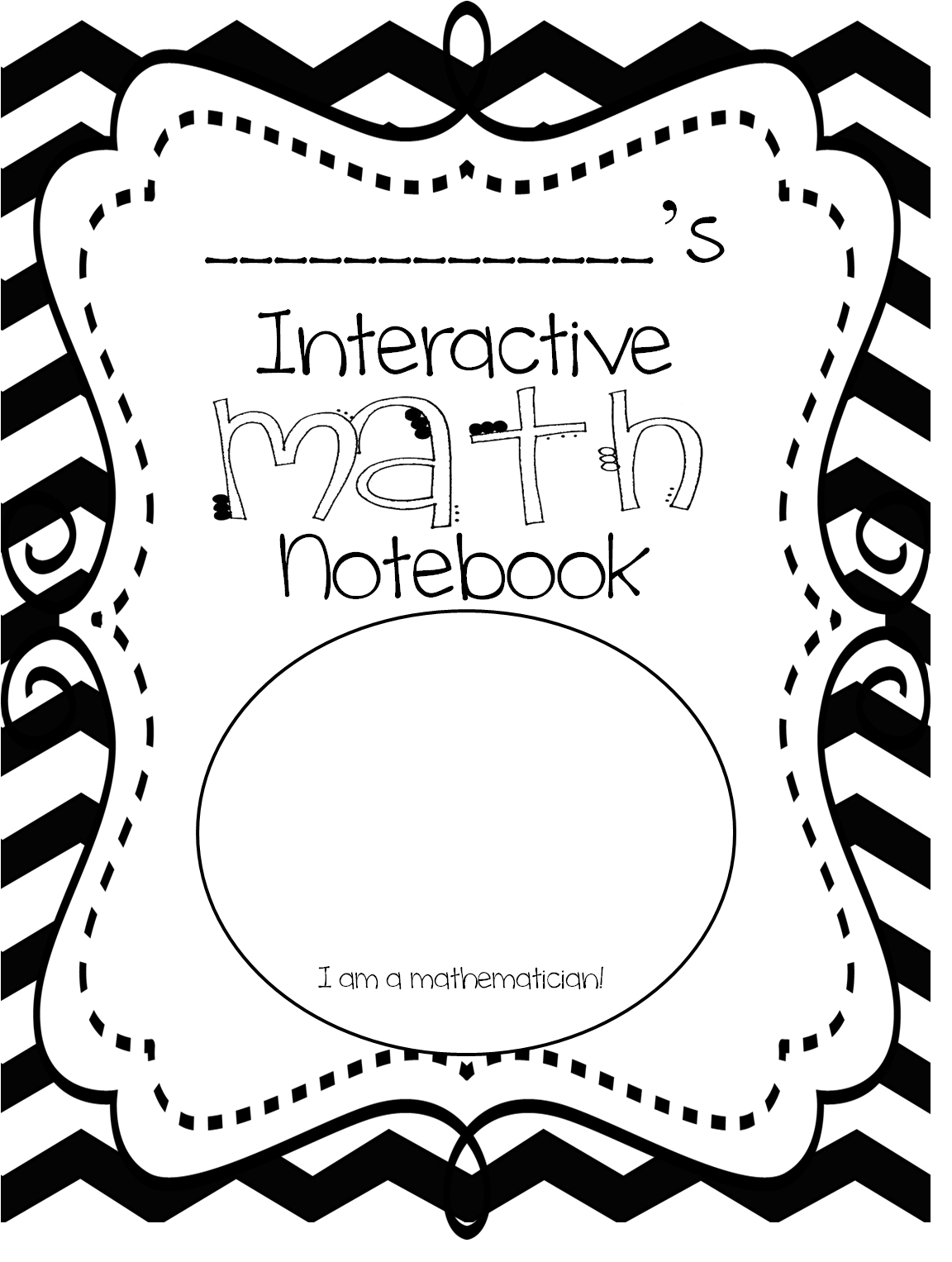 Kids Maths Book Cover : First grade wow interactive math notebook