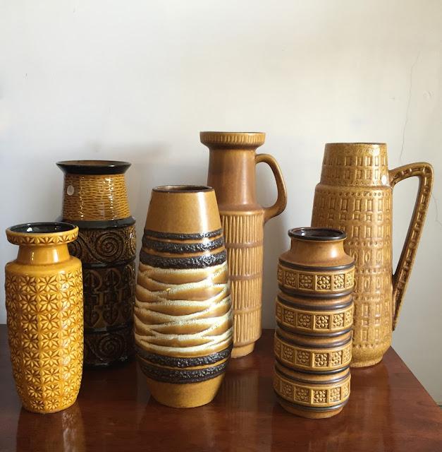 cerâmica alemã, vintage, west germany, anos 70, decoração vintage