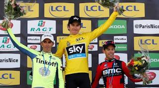 CICLISMO EN RUTA - Geraint Thomas asaltó la París-Niza resistiendo a Contador