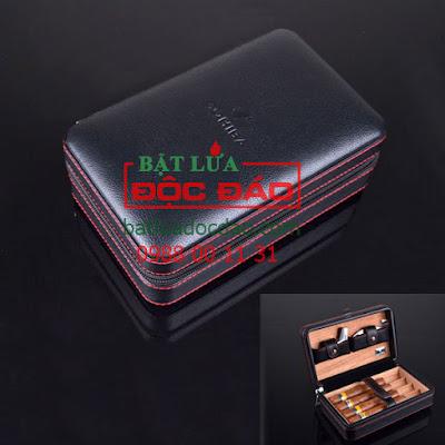 Phụ kiện xì gà Cohiba cao cấp: hộp đựng, dao cắt, khò xì gà