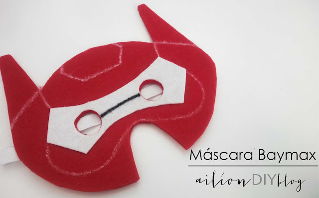 baymax mascara DIY mask