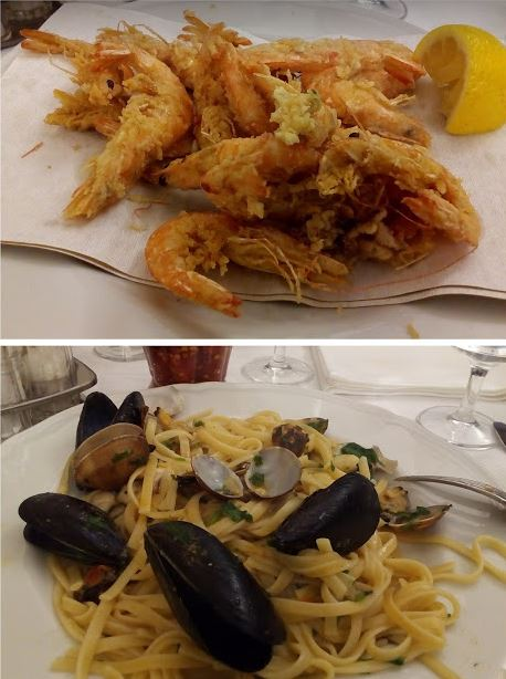 ristorante la nuova spezia frittura e spaghetti allo scoglio
