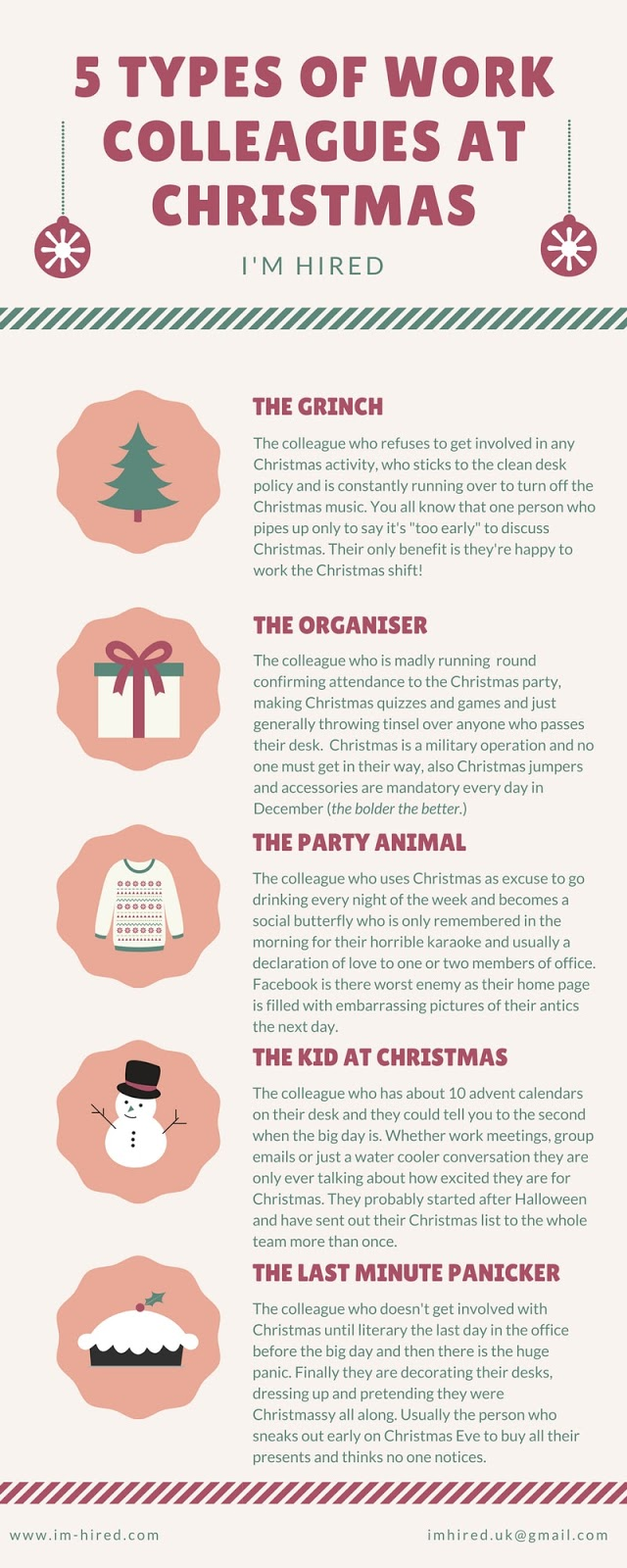 The 5 Types of Work Colleagues at Christmas