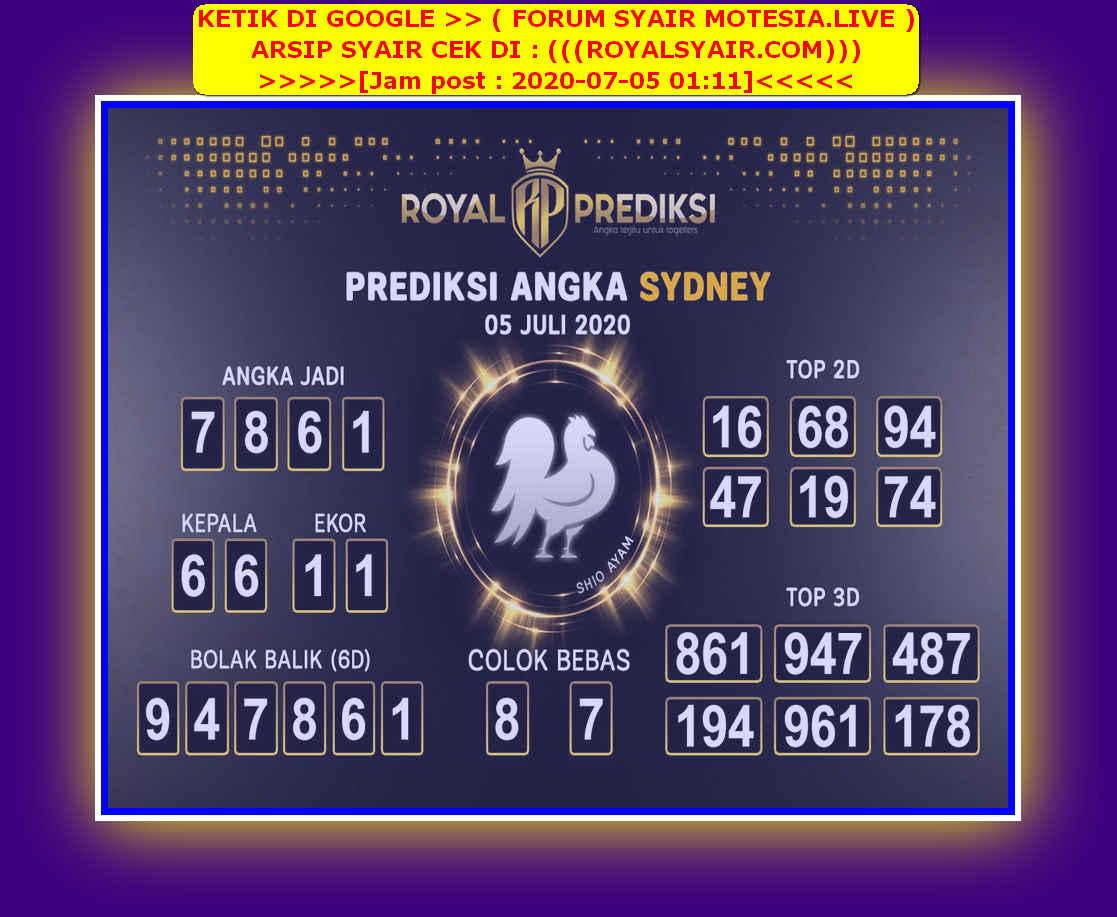 Kode syair Sydney Minggu 5 Juli 2020 183