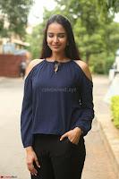 Poojita Super Cute Smile in Blue Top black Trousers at Darsakudu press meet ~ Celebrities Galleries 055.JPG