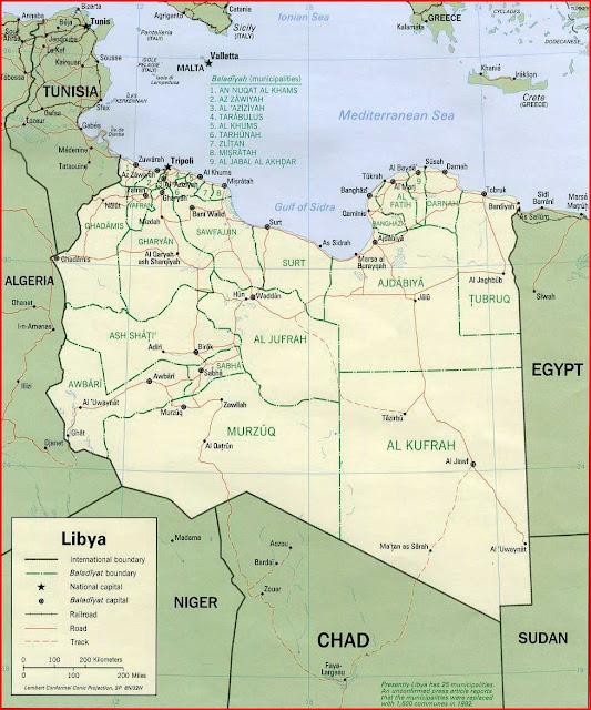 Gambar Peta politik Libya 1993