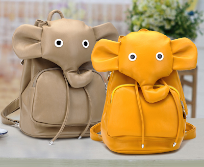 elephant backpack, elephant leather backpack, animal backpack, cute backpack