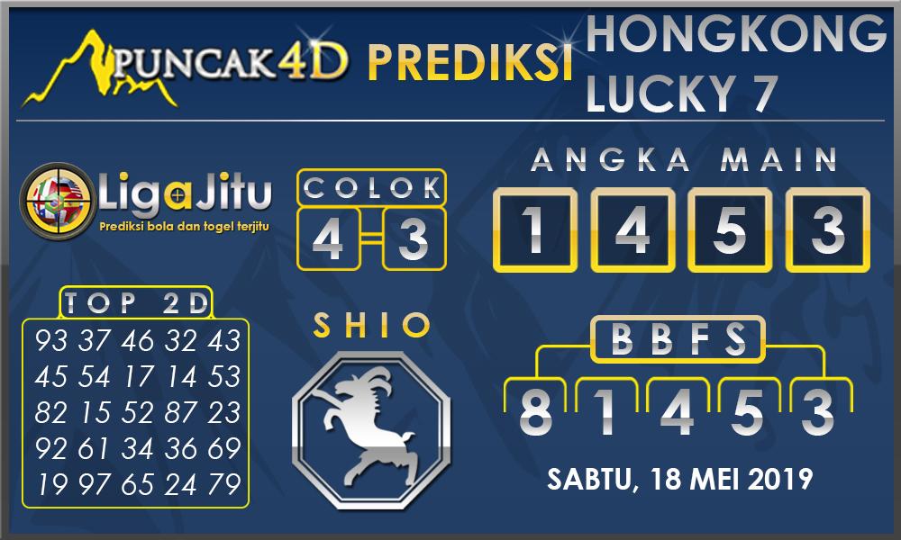 PREDIKSI TOGEL HONGKONG LUCKY7 PUNCAK4D 18 MEI 2019