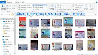 Share tổng hợp PSD CMND Nam, Nữ, thẻ căn cước chưa fix 2019