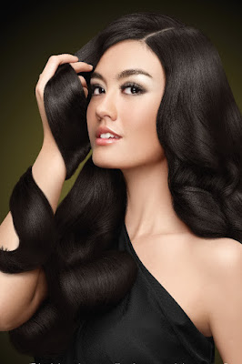 model rambut lurus Agnes Monica - Clear