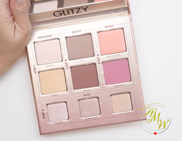 a photo of Make Up For Ever GLITZY Face Palette review