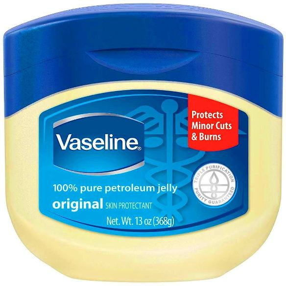 Pelembap muka Vaseline Pure Jelly Petroleum.
