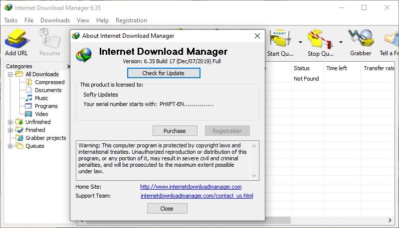 Internet Download Manager 6.35 Build 17