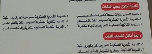 شروط التقديم بالتطويع فى الجيش للعام 2018-2019 القوات المسلحة المصرية
