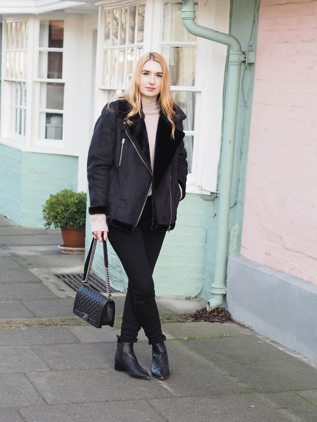The Topshop Faux Shearling Aviator Jacket