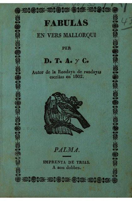 PALMA, imprenta de Trias, a nou dobbes