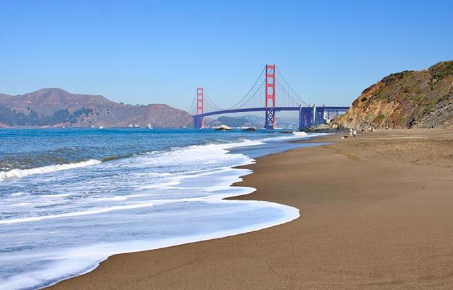 Visita às praias no verão em San Francisco