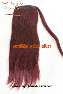 99J color wrap around ponytail