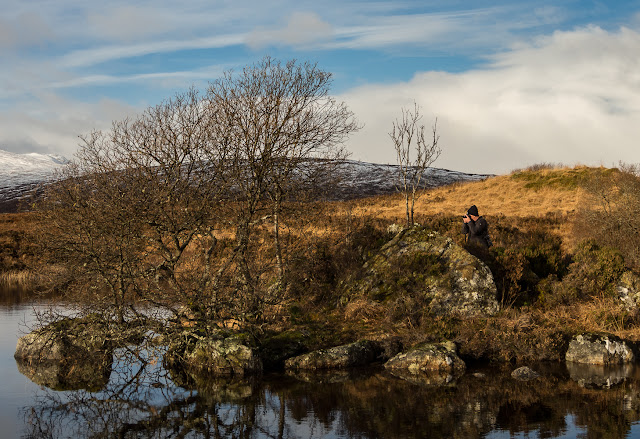 Photo of Phil taking photos on Rannoch Moor
