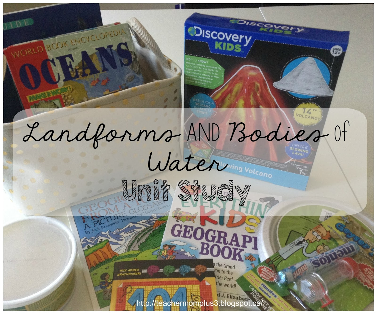 Teachermomplus3 Landforms And Bo S Of Water Unit Study