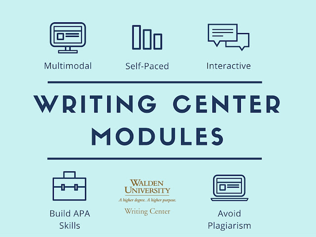 Writing Center Modules: multi modal, self paced, interactive, learn apa, avoid plagiarism