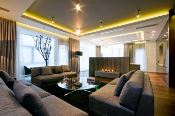 LED False Ceiling Lights, Brightly Decorated Room