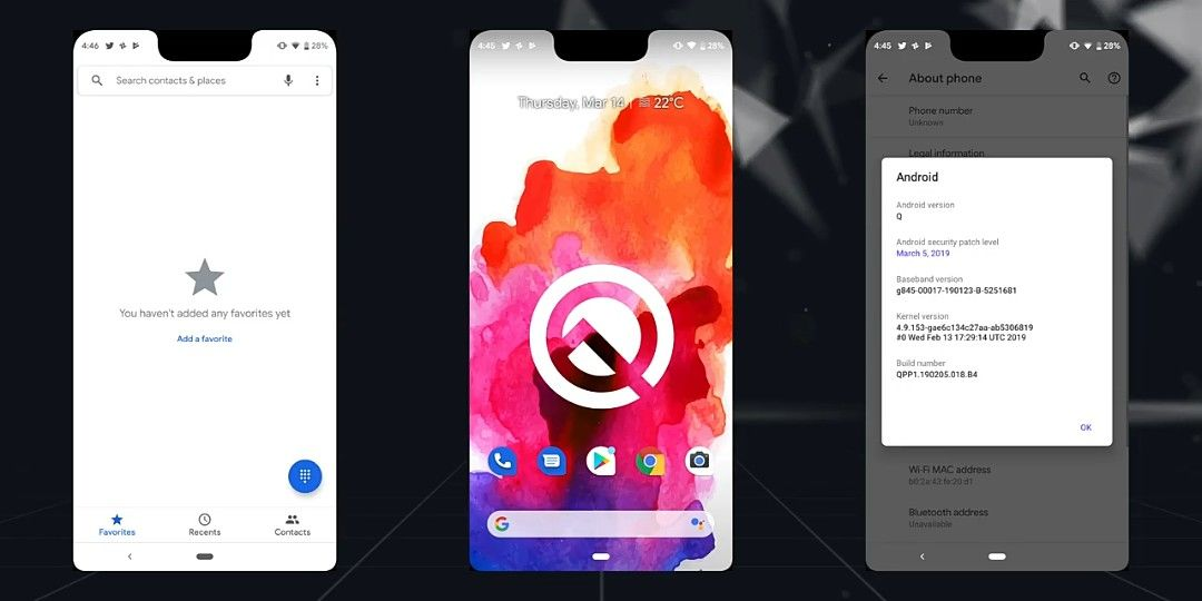How screenshots show up on Android Q