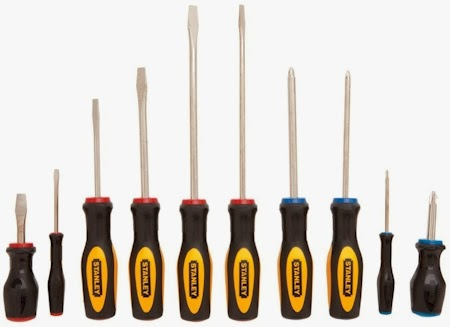 daily cheapskate lowest price stanley 10 piece standard fluted screwdriver set for on amazon. Black Bedroom Furniture Sets. Home Design Ideas