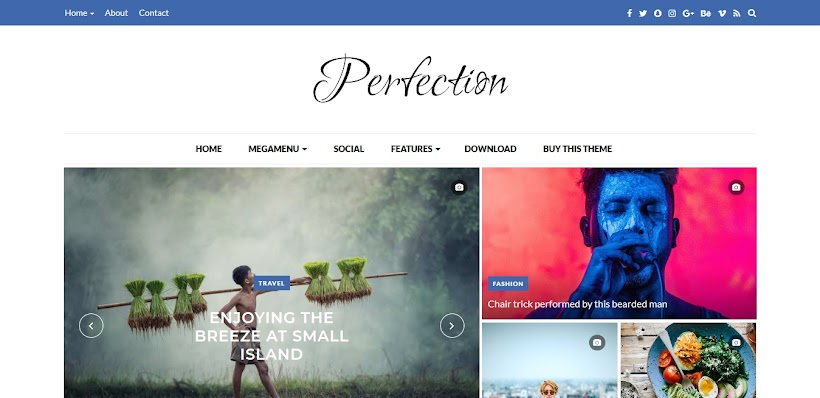 Perfection Free Blogger Template