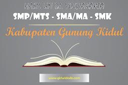 HASIL UN SMA/MA Kabupaten Gunung Kidul Tahun 2015 – 2017 Jurusan IPA