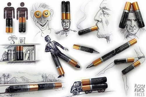 00-Victor-Nunes-The-Art-of-Making-and-Drawing-Faces-using-Everything-www-designstack-co