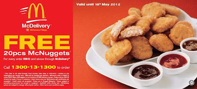 mcdonalds free chicken nuggets coupon