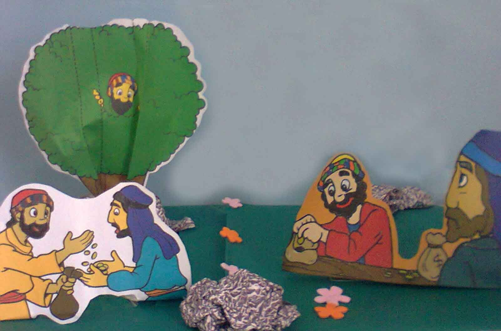 Manualidad Unidad 4 La Historia De Zaqueo Escuelita Biblica Infantil