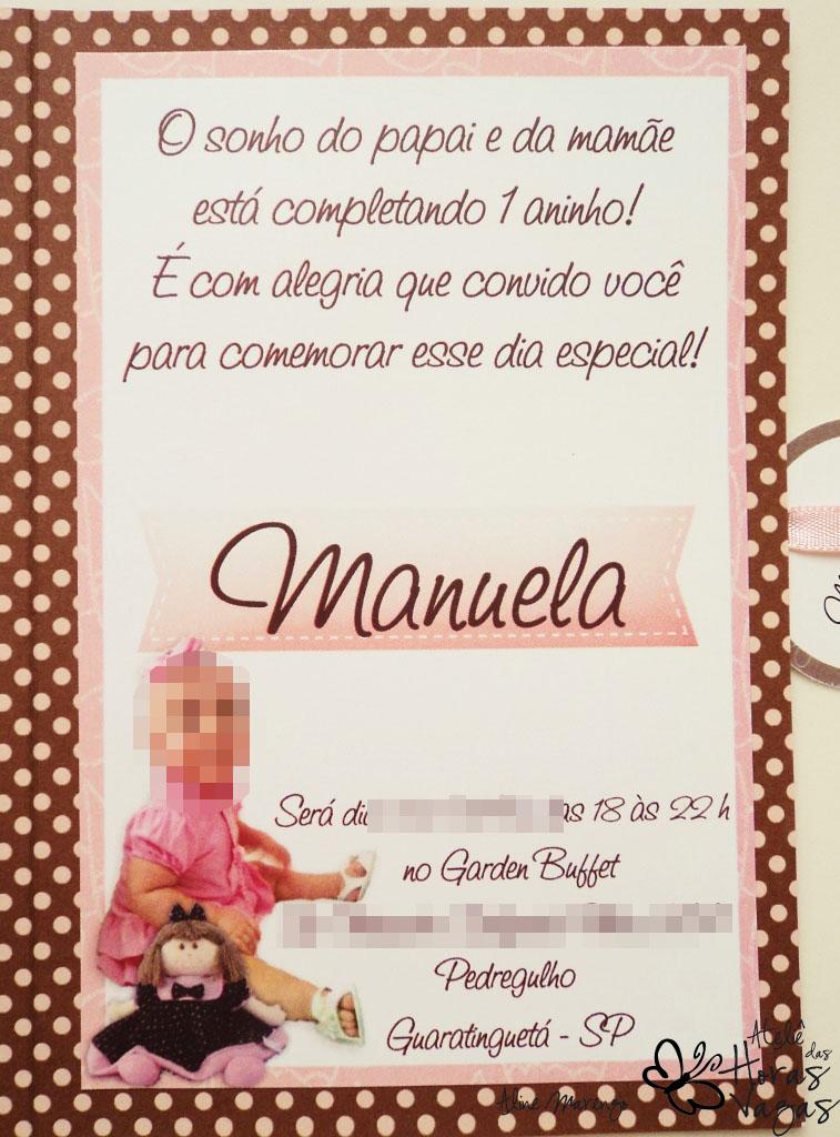 Ateliê Das Horas Vagas Aline Barbosa Convite Boneca De Pano Poá