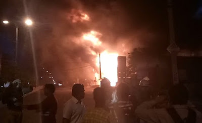 Kota, Rajasthan, Fire, Petrol Pump, BJP Worker, Protest, MLA, Chandrakanta Meghwal