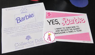 Подписка на журнал барби 1991 года и сертификат оригинальности