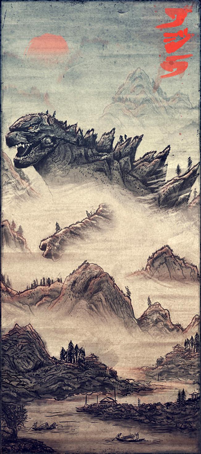 Daniel Nash (UK) - Godzilla print