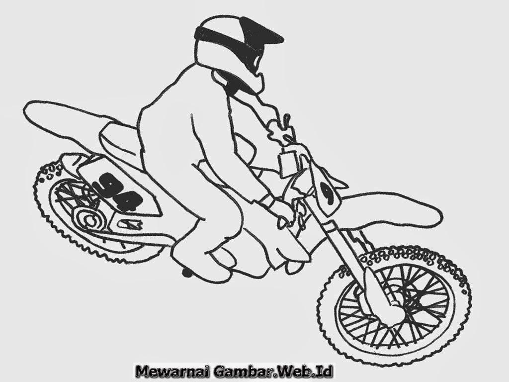 Mewarnai Gambar Sepeda Motor Ngaji
