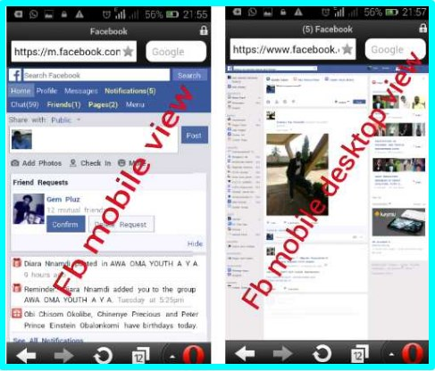 Facebook.com Desktop View