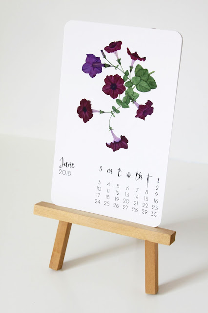 calendars, 2018 calendars, desk calendar, art print set, botanical watercolors, watercolor art prints, watercolor calendar, Anne Butera, My Giant Strawberry