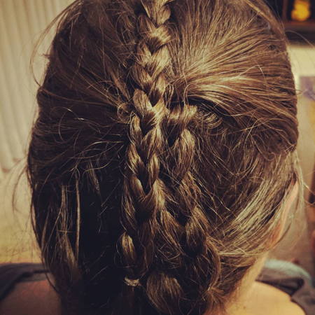 image of the back of my head, with braids in my hair