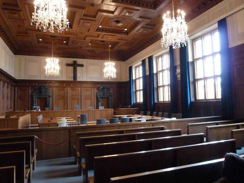 Inside courtroom 600 where the Nuremberg Trails took place