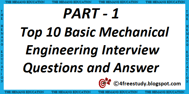 basics of mechanical engineering for interview pdf