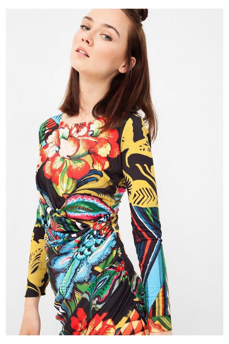 Desigual sukienka w kwiaty Rosita, co kupić na wiosnę 2017, trendy modowe, modna sukienka