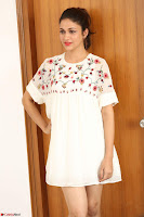 Lavanya Tripathi in Summer Style Spicy Short White Dress at her Interview  Exclusive 177.JPG