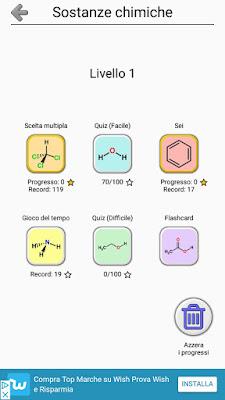 L'app che insegna le formule chimiche