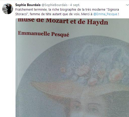 Nancy Storace, muse de Mozart et de Haydn avis