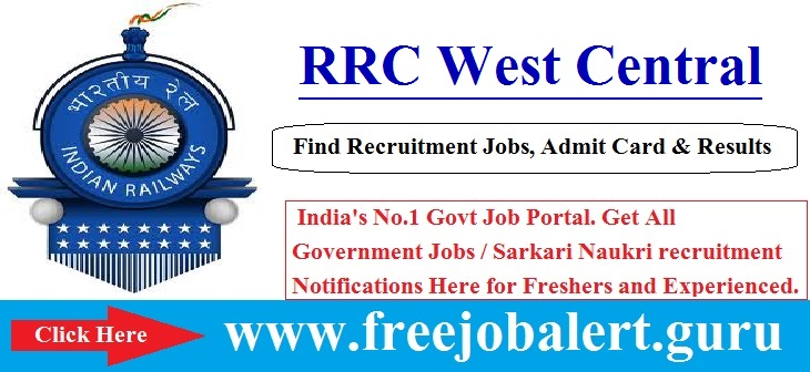 RRC West Central Railway Recruitment 2016-17 | Sports Quota Age limit is 18 to 32 years