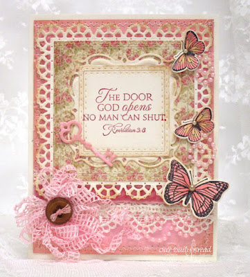 Our Daily Bread Designs, Key to Happiness, Butterly and Bugs, Trois Jolies Papillons, Keys, Squares, Double Stitch Squares, Layered Lacey Squares, Butterfly and Bugs, Trois Papillons, Blushing Rose Collection, by Robin Clendenning